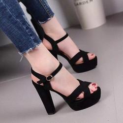 Giày cao gót quai chéo đế 13cm