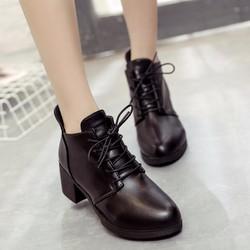 B047  - Giày bốt nữ phong cách Hàn Quốc
