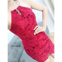 Đầm body ren cổ yếm hàng thiết kế! MS: S191159 Giá sỉ: 185k
