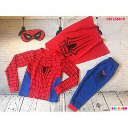 Set người nhện kèm mặt nạ và áo choàng dễ thương cho bé trai