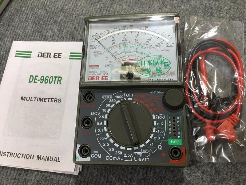 đồng hồ vạn năng đo điện de960 1