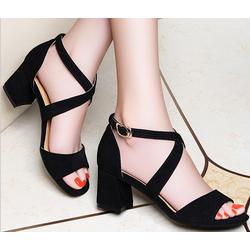 Giày cao gót hở mũi 2 quai dori