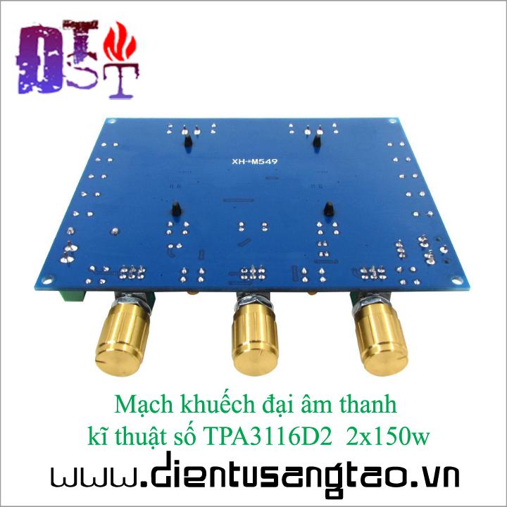 Mạch khuếch đại âm thanh kĩ thuật số TPA3116D2 2x150w 7