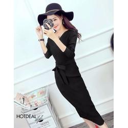 Đầm Nana Buộc Nơ Eo Thu Đông Fashion