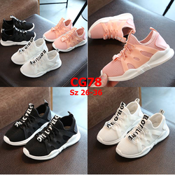Giày thể thao trẻ em siêu nhẹ thiết kế mới màu trắng  - CG78