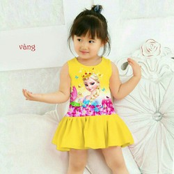 Đầm elesa bé gái xinh xinh đi chơi đi học hàng vnxk