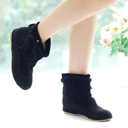 Boot cổ thấp thắt bím