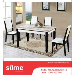 Bộ bàn ăn mặt đá nhập khẩu cao cấp SITME