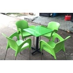 bàn ghế nhà hàng cafe nhựa tốt
