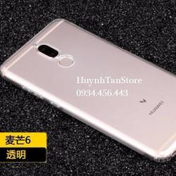 Ôp Silicon trong suốt có nút đậy, viền camera cho Huawei Nova 2i