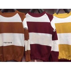 Áo len sọc màu tay dài hàng nhập! MS: S201152 Giá sỉ: 130K