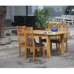 Bộ bàn ăn 04 ghế gỗ sồi mỹ