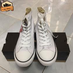 Giày Classic Trắng Cao Cổ | Giày Sneaker Trắng cao cổ