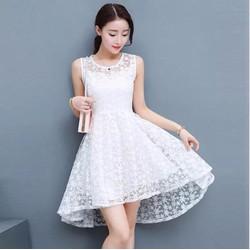 HÀNG MƠI- Đầm công chúa  tà tôm ren hoa mai
