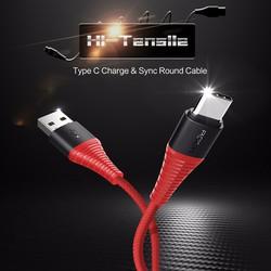 Cáp USB type C dây dù siêu bền - Rock