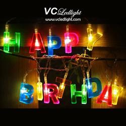 Đèn led dây Happy Birthday trang trí sinh nhật