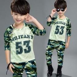 Bộ bé trai dài tay người lính cá tính MM016