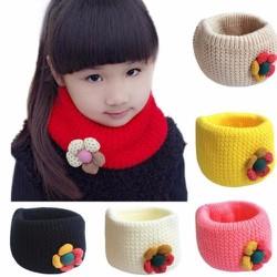 Khăn ống kiêm mũ len thời trang cho bé gái