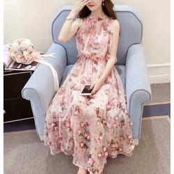 HÀNG MỚI-Đầm maxxi hoa đính nổi siêu hot
