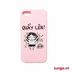 Ốp lưng iPhone 7 Dẻo Hồng Cute Quẩy Lên