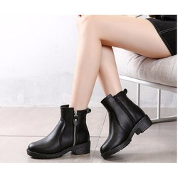 giày boot nữ da cao cấp siêu mềm