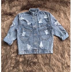 Áo khoác jean nữ siêu xinh form chuẩn như vi khuẩn
