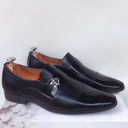 Giày tây nam kiểu da bóng và da nhám kết hợp kiểu cách