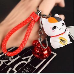 Móc khóa mèo thần tài có lục lạc Dây Đỏ cung cấp bởi WinWinShop88