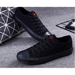 giày cặp nam nữ full đen  vải cao cấp