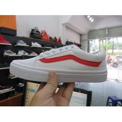 giày vans trắng vạch đỏ