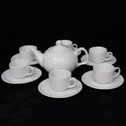 Bộ ấm trà gốm sứ cao cấp Daisy Ohioo mẫu tròn
