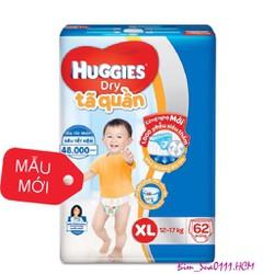 TÃ QUẦN HUGGIES XL62
