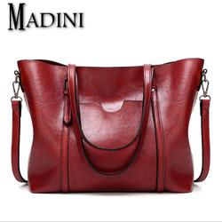 Túi xách da nữ MADINI cao cấp lớn đựng vừa A4 - phiên bản mới 2018