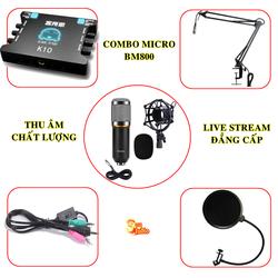 BM800 và XOX K10 trọn bộ thu âm full phụ kiện giá tốt nhất thị trường