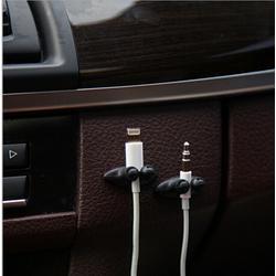 phụ kiện trang trí ô tô-Bộ kẹp gọn gàng tai nghe,dây sạc trên xe ôtô