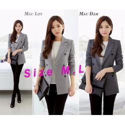 Áo khoác vest form dài cực tôn dáng và phong cách