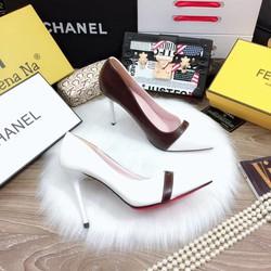 Giày cao gót sơn 10f phối màu cực đẹp