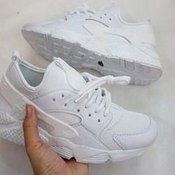 Giày thể thao Huarache trắng nam nữ