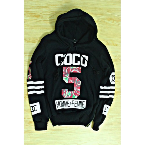 Áo hoodie nam nữ đen