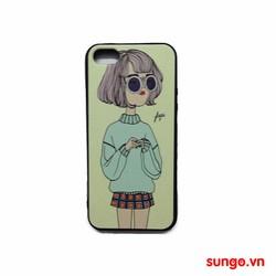 Ốp lưng iPhone 5 và 5S dẻo hình Cô Gái Cute