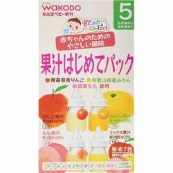 Trà Wakodo nhật 4 vị hoa quả cho bé 5 tháng+