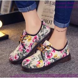 Giày oxford nữ họa tiết hoa mẫu mới cực HOT GUBB148