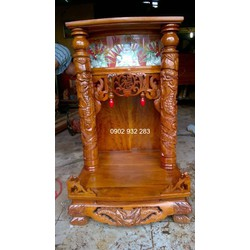 bàn thờ ông địa thần tài gỗ căm xe 81 x 48