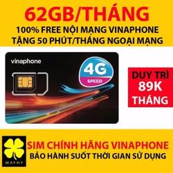 SIM 4G Vinaphone Gold VD89 Tặng 62GB Tháng Gọi Miễn Phí 43000 Phút