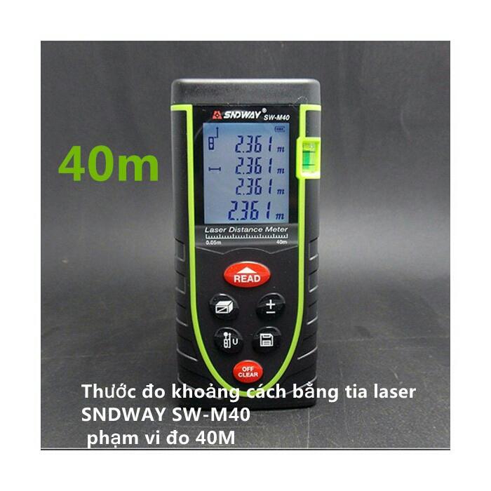 Thước đo khoảng cách bằng tia laser SNDWAY SW-M100 cự ly 100m 8