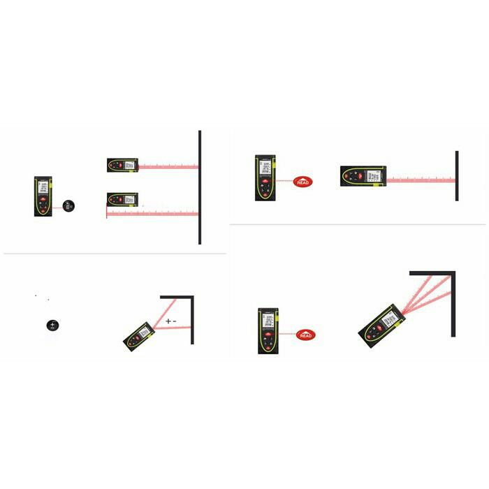 Thước đo khoảng cách bằng tia laser SNDWAY SW-M80 cự ly 80m 5