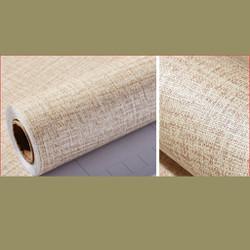 1 cuộn dài 5m ngang 60cm giấy DT giả vải , có keo, lau được khi bẩn