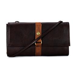 Túi xách da thời trang màu nâu SH2316
