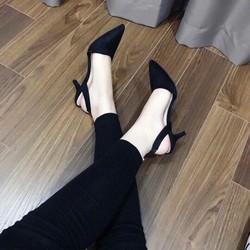 Giày cao gót bít mũi quai hậu