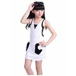 Đầm thun xinh xắn cho bé gái - MS0135